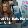 Mermaid Tail Baby Blanket & Sleep Sack